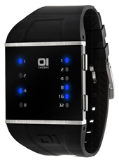 01 The One Slim-Square-Black-&-Blue SLS102B3 -