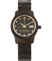 ABSW004 Tempesta Ladies Watch in black sandalwood