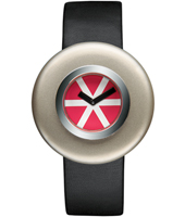 AL12003 Ciclo by Ettore Sottsass Deisgn watch with Red Dial