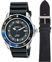 Oceano 47mm Gents Diver with Extra Dark Blue Leather Strap