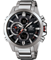 ECB-500D-1AER Bluetooth 48mm Silver mens watch with steel bracelet and smartphone link