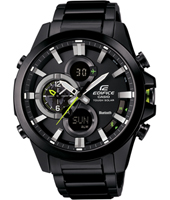 ECB-500DC-1AER Bluetooth 48mm Black mens watch with steel bracelet en smartphone link