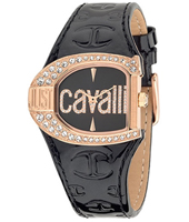 JC Logo 35mm Black & Rose Gold Lady Watch