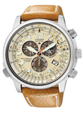 Radio Controlled Eco-Drive 45mm Pilot Chronograph with Sapphire Crystal