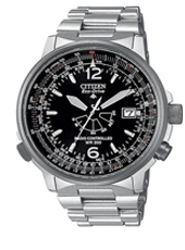 Citizen Pilot-Steel-Radio-Controlled-Eco-Drive AS2020-53E -