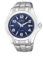 Sport Eco-Drive 41mm Steel Gents Watch with Date