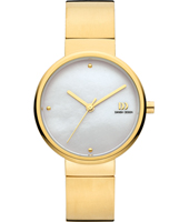 32mm Gold ladies watch with MOP Dial