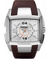 Bugout 42mm Steel Watch with DayDate, Brown Strap