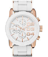Diesel Franchise--42-Chrono-White-&Rose-Gold DZ5323 -