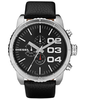 Diesel Franchise--51-Chrono-Black-&-Silver DZ4208 -