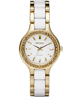 DKNY Broadway-Small-Ceramic-Gold-White NY8140 - 2011 Spring Summer Collection