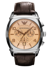 Emporio Armani AR0348-Chrono-Steel-Brown AR0348 - 2011 Fall Winter Collection