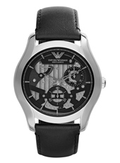 Valente Meccanico 43mm Black & Steel Automatic Gents Watch