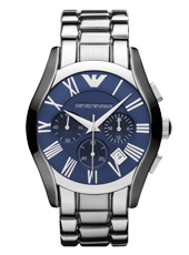 Emporio Armani AR1635-Chrono-Silver-&-Blue AR1635 - 2012 Fall Winter Collection