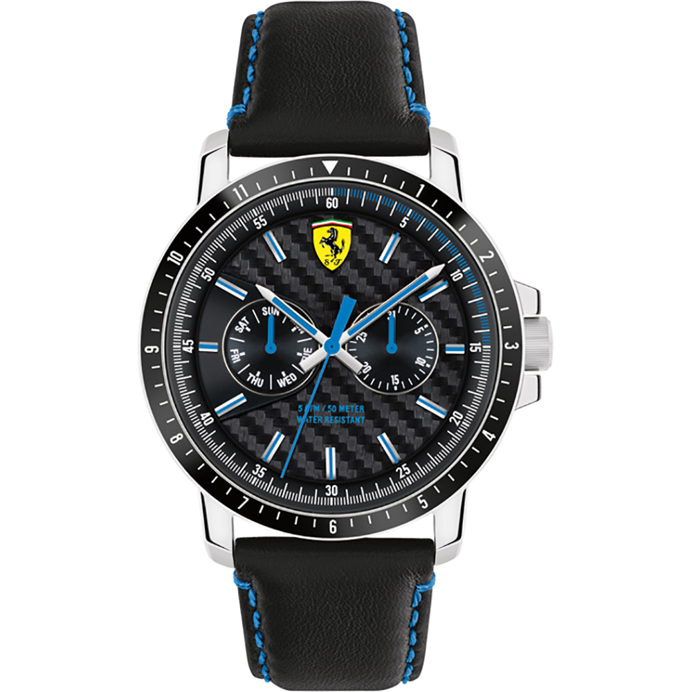 en are stainless steel powered rubber by and ferrari strap watches black with timepieces scuderia watch