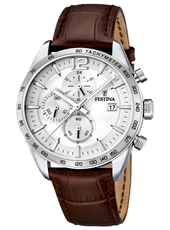44mm Limited Edition Gent's Chronograph With Date And Brown Leather Strap