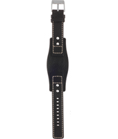 AM3779 20mm Black Leather  Strap