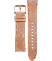 AM4532 Cecile 20mm 20mm Light Brown Leather Strap