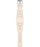BG2044 24mm 24mm Beige Leather Cuff Strap