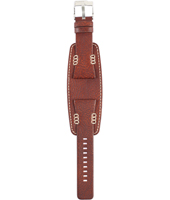 BG2182 28mm 28mm Brown Leather Cuff Strap