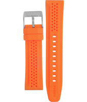 BG2218 22mm 22mm Orange Rubber Strap