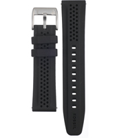 BG2219 22mm 22mm Black Rubber Strap