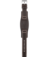 BQ9200 20mm 20mm Brown Leather Cuff Strap