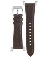 BQ9356 20mm Brown Leather Strap