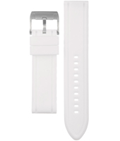 BQ9368 22mm White Rubber Strap