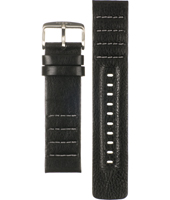 CH2493 22mm 22mm Black Leather Strap