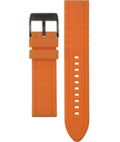 Fossil ACH2540-Orange-Rubber-Strap ACH2540 -