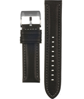 CH2558 22mm 22mm Black Leather Strap