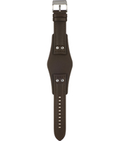 CH2565 22mm 22mm Brown Leather Cuff Strap