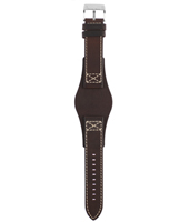 CH2599 22mm 22mm Brown Leather Cuff Strap