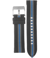 CH2689 Decker 22mm Textile Over Leather Strap