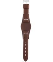 CH2890 Coachman 22mm 22mm Brown Leather Cuff Strap