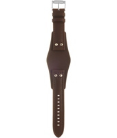 CH2891 Coachman 22mm 22mm Brown Leather Cuff Strap