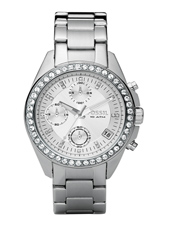 ES2681 Decker Medium 38mm Silver Ladies Chronograph with Date