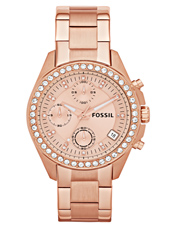 ES3352 Decker Medium 39mm Rose Gold Ladies Chronograph with Date