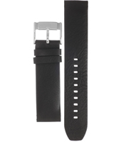 FS3042 22mm Black leather strap with stainless steel buckle
