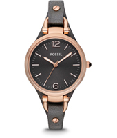 ES3077 Georgia 32mm Rose Gold & Black Ladies Watch