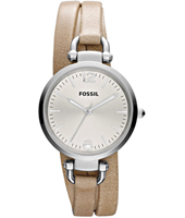 Fossil Georgia-Double-Leather-Silver ES3197 -