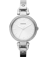Georgia 32mm Silver Ladies Watch with Crystals