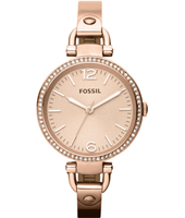Georgia 32mm Rose Gold Ladies Watch with Crystals