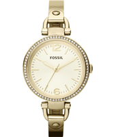 Georgia 32mm Gold Ladies Watch with Crystals