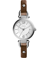 ES3861 Georgia Mini 26mm Silver ladies watch on brown leather strap