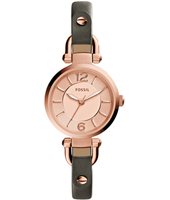 Georgia Mini 26mm Rose ladies wach on grey leather strap