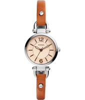 ES4025 Georgia Mini 26mm Silver & brown ladies quartz watch