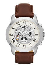 Grant  Twist 44mm Automatic Multifunction Skeleton Watch
