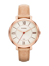 ES3487 Jacqueline 36mm Rose Gold & Beige Ladies Watch